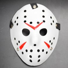Masca Jason Voorhees alba, pentru amuzament, petreceri, Halloween!