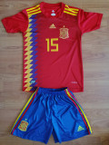 Echipament Spania copii 11-12-13-14 ani, YL, YM, YXL, Tricou + Pantalon