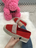 Pantofi espadrile dama rosii marime  38, 39, 40+CADOU