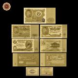 A2866 Russia Rusia 1 3 5 10 25 50 100 ruble roubles Fantezie Aurita Aur Gold 24K