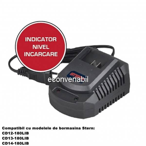 Statie Incarcare Rapida Acumulator 18V Bormasina Stern CHACD13180LIB