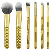 Cumpara ieftin Set pensule profesionale Royal Langnickel MODA Metallics Total Face Flip Kit, 7 piese, Gold