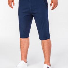 Pantaloni scurti pentru barbati, bleumarin inchis, casual, model de vara, slim fit, buzunare laterale - P402
