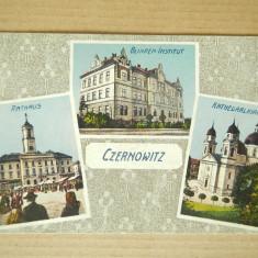 ROMANIA CZERNOWITZ ,CERNAUTI CENZURATA  ! CIRCULATA ! MARE RARITATE