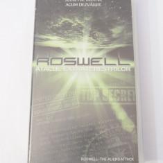 Caseta video VHS originala film tradus Ro - Roswell Atacul Extraterestrilor