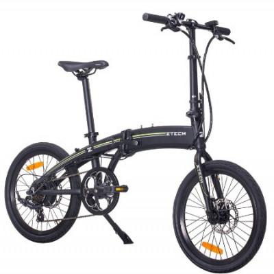 Bicicleta electrica cadru aluminiu Pliabila motor 250W Baterii 36V 7,8Ah Li-ion ZT-74 FOLDING LITHIUM NEGRU foto