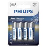 Cumpara ieftin Set baterii Ultra Alkaline Philips, 4 x LR6 AA, 1.5 V