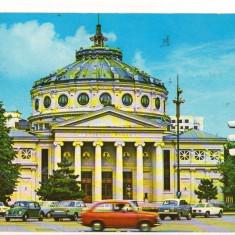 CPI B 11205 CARTE POSTALA - BUCURESTI. ATENEUL ROMAN, autoturism, autoturisme, Circulata, Fotografie