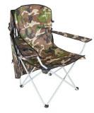 Scaun camping pliabil cu protectie solara Malatec, rezistenta UV, camo