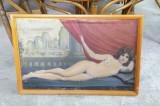 Nud vechi semnat, Ulei, Art Deco