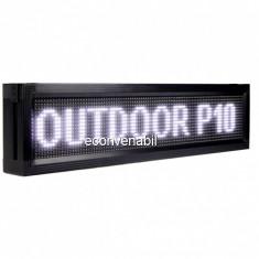 Panou Afisaj Firma Luminoasa Exterior cu LEDuri Albe 100x20cm