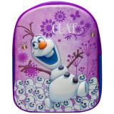 Ghiozdan 3D Olaf Disney - Violet cu Albastru