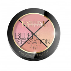 Paleta blush Eveline Cosmetics Blush Contour Sensation 4 in 1, 12 g