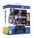 Controller Sony DualShock 4 Black V2 plus FIFA 21 bundle