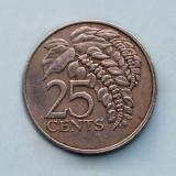 TRINIDAD  TOBAGO  -  25 Cents 1981