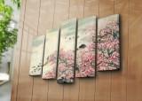 Tablou decorativ pe panza Horizon 5 Piese, 237HRZ4252, Multicolor
