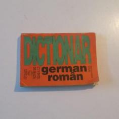 DICTIONAR GERMAN - ROMAN , CUVINTE DE BAZA de MAGDALENA VULPE , 1991