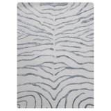Covor Zebra argintiu tesut manual 153 x 244cm