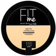 Pudra compacta matifianta Maybelline New York Fit Me Matte Poreless Pressed Powder 115 Ivory 14 gr