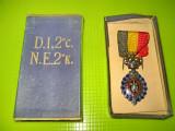 Medalia Muncii Belgia in cutia originala alama emailata si argintata.