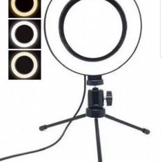 Lampa Circulara De Masa Ring Light 3 Tipuri Lumina Si Trepied Inclus CT-001
