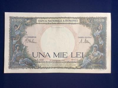 Bancnote România - 1000 lei 10 septembrie 1941-seria 0857 (starea care se vede) foto