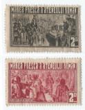 Romania, lot 350 cu 2 timbre fiscale locale Bucuresti, Ateneul, 1933, MLH, Nestampilat