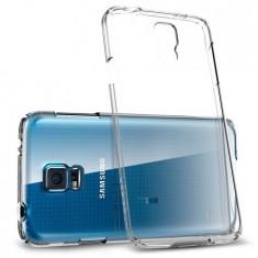 Husa SAMSUNG Galaxy S5 - Jelly Clear (Transparent) Anti-Ingalbenire