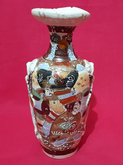 Vaza ceramica Satsuma Moriage Japonia