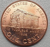 1 cent 2009 USA, Lincoln, unc, Birth and early Childhood, km#441, America de Nord