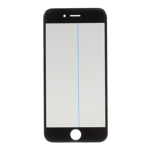 Geam iPhone 6s Cu Rama si Adeziv Sticker Negru