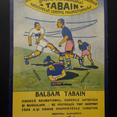 Reclama veche per. regalista Balsam Tabain - Medicina - Farmacie