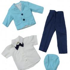 Costum elegant de botez baieti NN CEBN, Albastru