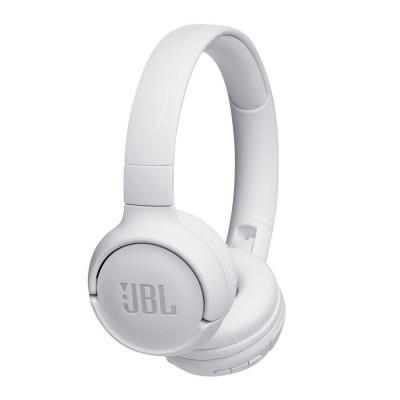 Casti audio On-ear JBL Tune 500BT, Wireless, Pure Bass Sound, Hands-free Call, 16H, Alb foto