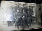 Fotografie veche grup de militari,sergenti,caporali,Amintiri din Militarie,T.GRA