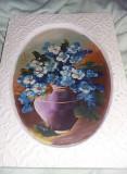 tablou superb vechi pictat pe ipsos,pictura veche,de Colectie ,T.GRATUIT