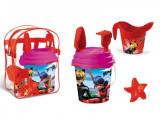 Set plaja Miraculous Mondo pentru copii cu ghiozdanel jucarii plaja si galetusa