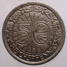 1.394 GERMANIA WEIMAR 50 REICHSPFENNIG 1927 J