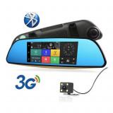 "Oglinda Auto 7""HD Navigatie GPS, Harti EUROPA 2020, TMC+WiFi+3G+Dual DVR Camera, Toata Europa, Lifetime, LodeStar"