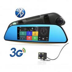 "Oglinda Auto 7""HD Navigatie GPS, Harti EUROPA 2020, TMC+WiFi+3G+Dual DVR Camera"