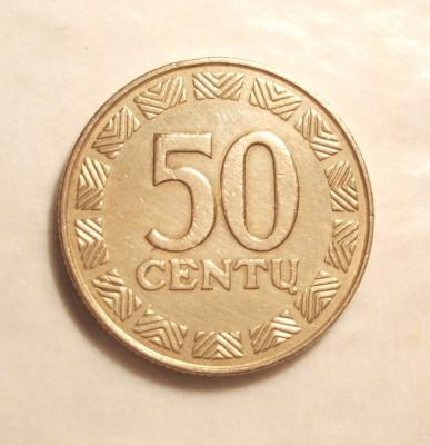 LITUANIA 50 CENTU 2000 foto