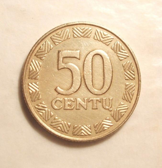 LITUANIA 50 CENTU 2000