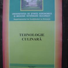TEHNOLOGIE CULINARA