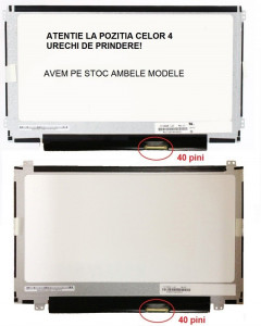Display laptop nou 11.6 slim 40 pini compatibil Acer Aspire V5-121 V5-131 prindere sus/jos
