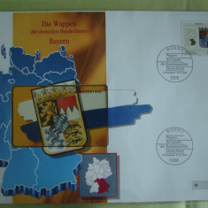 Cartela Telefonica + FDC Germania Bayern - Exponat Numerotat