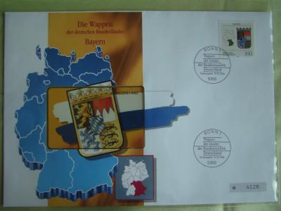 Cartela Telefonica + FDC Germania Bayern - Exponat Numerotat foto