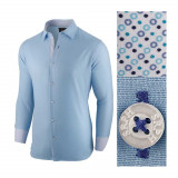 Camasa pentru barbati albastru deschis regular fit bumbac casual Business Class Ultra