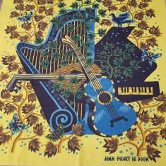 """COVOR-TAPISERIE CREATA DE ARTIST -JEAN PICARD LE DOUX-""""CONCERTO""""-editie limit"""