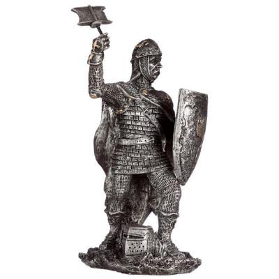 Statueta Cavaler Medieval Luptand 13 cm foto