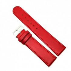 Curea pentru ceas din piele naturala antialergica Rosie8mm 10mm 12mm 14 mm 16mm 18mm 20mm 22mm 432 Rosu
